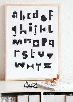 my messy room ABC poster $26