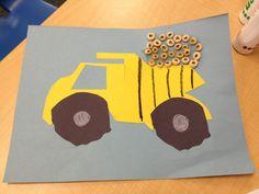 Dump truck. May art. Community helpers