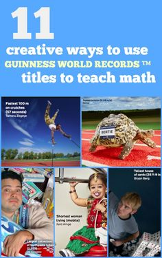 11 Creative Ways to Use GUINNESS WORLD RECORDS' Titles to Teach Math Hands down, kids think one of the most fascinating books out there is the GUINNESS WORLD RECORDS Annual Book. The 2017 edition is packed with more than 4,000 records and photos, including hard-to-believe facts