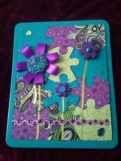 My First Altered Puzzle - PAPER CRAFTS, SCRAPBOOKING & ATCs (ARTIST TRADING CARDS)