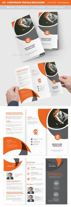Business Square Bi Fold Template Squares And Brochures
