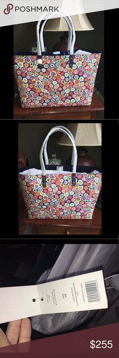 Tory Burch Large Kerrington Square Tote The design is called Millefiori. Bought but never used and new with tags. Purchased this for my mom for her birthday and she ended up buying herself one but the smaller size and she preferred the smaller size and just forgot to return it and now it's too late. It is rather large & can hold so much! Super cute my mom got a ton of compliments Tory Burch Bags Totes