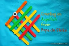 Angel fish popsicle stick craft