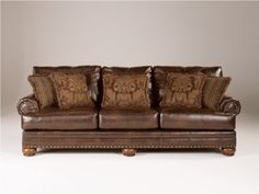Signature Design by Ashley Chaling DuraBlend Sofa, Antique