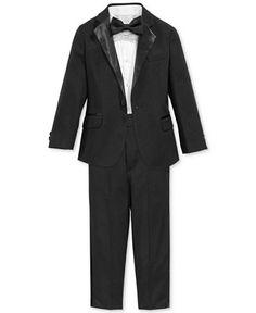 Nautica Little Boys' or Toddler Boys' 4-Piece Tuxedo Suit, Shirt & Tie