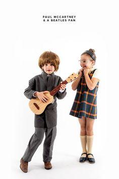 Little Musicians Costume: Paul McCartney & a Beatles Fan (Oh Happy Day!)