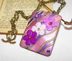 Pink/Purple/Lavender Rectangular Floral Artwork Shell by ArtLery, $22.00