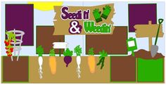 Seedin' & Weedin' 2-page 12x12 do-it-yourself scrapbook pagekit