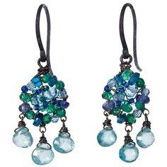 Dana Kellin Deep Sea Mix Earrings (14.385 RUB) ❤ liked on Polyvore featuring jewelry, earrings, dana kellin earrings, dana kellin jewelry, earring jewelry, oxidized silver earrings and silver oxidized jewellery