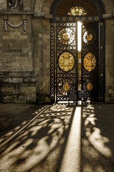 King Armando's Palace. Sunlit gate. Fabulous shadow. .