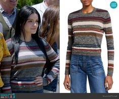 Alex Dunphy Fashion on Modern Family Modern Family Alex, Modern Family Episodes, Cropped Sweater, Men Sweater, Ariel Winter, Veronica Beard, Other Outfits, Grey Stripes, Fashion Outfits