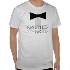 Brother of the Bride Bow Tie Tshirts