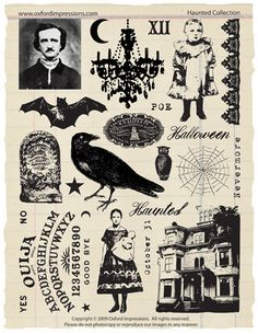 Haunted Rubber Stamp Collection - Gothic Halloween