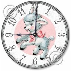 Love this nursery clock on Amazon... would be perfect to hang on the wall by the nursing rocker.