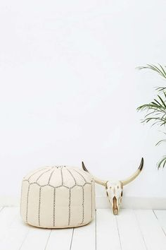 Pouf marocain naturel - Urban Outfitters