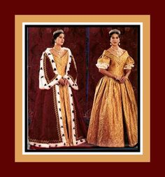 QUEEN VICTORIA of England-Historical Sewing Pattern-Early 18th Century Court Gown-Robe of State-Ermine Trimmed Robe-Uncut-Size 12-16-Rare by FarfallaDesignStudio on Etsy