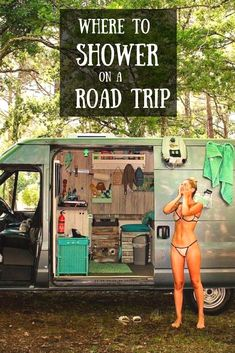 Find out tips and secrets on where you can shower on your next road trip! : Find out tips and secrets on where you can shower on your next road trip! Road Trip On A Budget, Road Trip Hacks, Road Trip Usa, Camping Car, Family Camping, Camping Hacks, Stealth Camping, Family Trips, Family Vacations