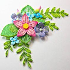 Very pretty colors, I think #quilling #flowers #papercraft #hobby #crafting #paperflorals #florals #artist #paperartist #paperstrips #quilled #paperquilling #filigrana #paperfiligree #rękodzieło #polskierękodzieło #papierowecuda #квіллінг #квиллинг