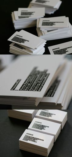 Business Cards that could look nice inverses