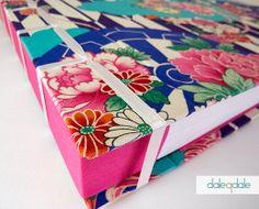 Taller de encuadernación y diseño: Álbum artesanal con tela japonesa. www.naranjaymadera.com