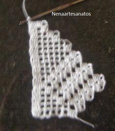 Tentei registrar cada carreira feita a partir da repetição do bico.É um barrado simples,mas paraque... Magia Do Crochet, Crochet Top, Crochet Hats, Crochet Borders, Crochet Squares, Crochet Patterns, Crochet Symbols, Bunny Crafts, Chrochet