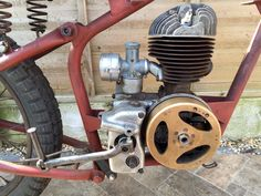 1954 Ambassador Popular Motorcycle with a Villiers engine Motorcycle Engine, Bobber Motorcycle, Antique Motorcycles, Motorised Bike, Motorized Bicycle, Pedal Cars, Small Engine, Classic Bikes, Vintage Bikes