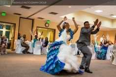 African Wedding Dance. American groom African Bride