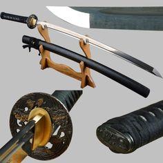 Shijian Swords Long Handmade Japanese Samurai Katana Sharp Full Tang Damascus Folded Steel Tameshigiri Practice Aikido Iaido