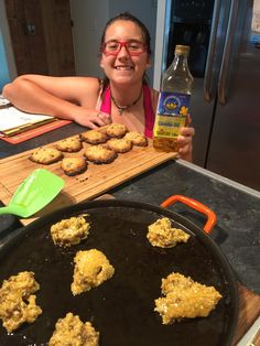 Cooking with kids!  Chocolate coconut chip cookies! Cold pressed Mountainview Canola give a nutty flavour! Any chocolate chip recipe with   Our Canola instead of margarine or butter!
