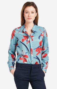 Niebieska koszula damska LAMBERT DL09LB7796