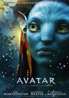 """""""Avatar"""" con Sam Worthington, Sigourney Weaver y Michelle Rodríguez."""
