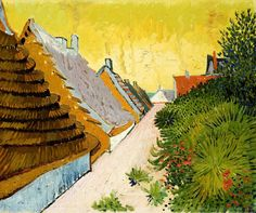 Farmhouses at Saintes-Maries, June 1888 by Vincent van Gogh.