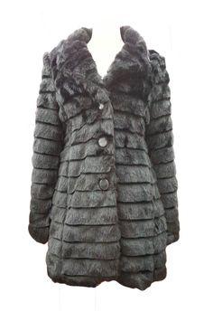 Black Button Up Warm Faux Fur Long Sleeve Jacket Coat Product Code: 629 Pack of 5 PiecesWas £24.50  Now £20.00 per Piece VAT: 0%  FC