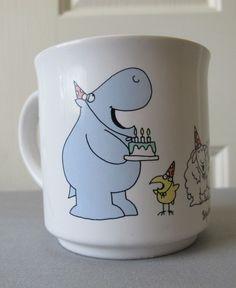 Sandra Boynton Happy Birthday Mug, hippo birdie to ewe