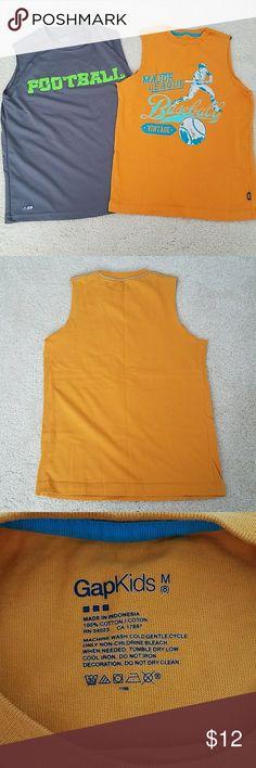 Bundle of 2 Boy's Muscle Tank Gap Kids Size - Medium (8) 100% Cotton  Champion Size - Medium (8-10) 100% Polyester Shirts & Tops Tank Tops