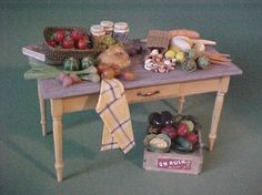 fruits & vegetables - Dollhouse Miniatures by Barb Plevan