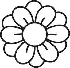 flower template free printable google search applique rh pinterest com flower petal clipart black and white flower 5 petal clipart