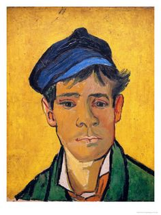 Young Man with a Hat, c.1888  by Vincent van Gogh