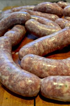 Easy step by step guide with detailed instructions on equipment, ingredients, and how to make your own homemade sausage. Polish Sausage Recipes, Pork Sausage Recipes, Homemade Sausage Recipes, Chicken Sausage, Whole Hog Sausage Recipe, Homemade Italian Sausage, Italian Sausage Recipes, Homemade Brat Recipe, Charcuterie