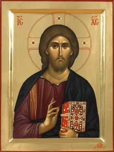 Byzantine Icon of Christ ( Monastery of Vatopedi, Mount Athos, Greece)