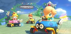 #Babies behind the wheel in #MarioKart8 include #Rosalina Peach and Daisy! More info on Mario Kart 8 @ http://www.superluigibros.com/mario-kart-8