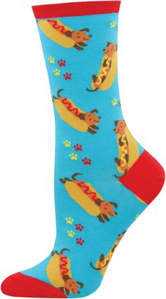 Dachshunds can't help that they look like little walking hot dogs, and we can't help how much we love these adorable Wiener Dog crew socks for women. Dachshund Puppies, Dachshund Love, Dachshunds, Food Socks, Dog Training Classes, Hot Dog Buns, Hot Dogs, Weenie Dogs, Sock Animals