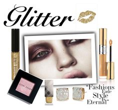 """Glitter✨"" by www-krawolle on Polyvore featuring Schönheit, Anja, Topshop, Yves Saint Laurent, Bobbi Brown Cosmetics, Burberry und Kate Spade"