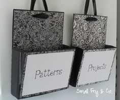 Small Fry & Co. : Hanging File Boxes Repurposed from Cardboard Crates