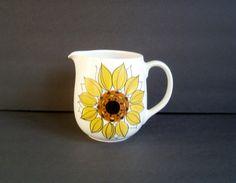 Arabia Finland Sunflower Pitcher Hikka Liisa by RobinsRoostVintage, $62.00