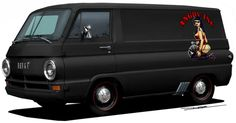 Hotrodded  60's Dodge Van.  Hard to believe before the minivan, vans had a shady rep.