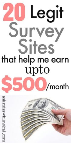 Click through to see the list of the best survey sites that pay extra cash for taking surveys in 201 Best Paid Online Surveys, Surveys That Pay Cash, Online Survey Sites, Online Jobs, Take Surveys, Make Money Today, Make Easy Money