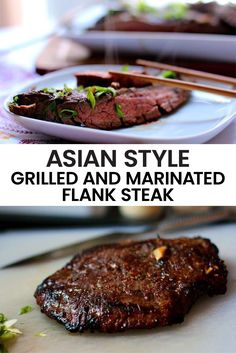 My Asian Style Grilled and Marinated Flank Steak Recipe is full of flavor, texture and that mmmmmm savory umami balance on your palate that makes you beg for more and more. This healthy main entree is Keto and low carb for a delicious, guilt-free, grilled dinner. #asianrecipe #asiansteak #grilledsteak #marinatedsteak #ketorecipe #lowcarbrecipe #dinnerrecipe #mainentree