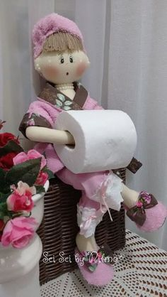 Decoration, Toilet Paper, Dolls, Ribbons, How To Make, Drink, Ideas, Food, Fabric Dolls