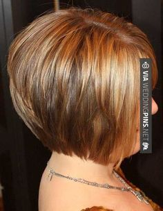 So awesome! - Bob Hairstyles 2016 maybe i need to go a little shorter to be able to wear it down Short Bob Hair Styles 2013 | 2013 Short Haircut for Women LOVE THE VOLUME (FULLNESS) in the back but need feathery bangs in front! Might take a while for side & top layers to grow out! ALSO LIKE THE COLOR FOR FALL/WINTER BUT LIGHTER FOR SUMMER. | CHECK OUT MORE AMAZING INSPIRATIONS FOR TASTY Bob Hairstyles 2016 HERE AT WEDDINGPINS.NET | #bobhairstyles2016 #bobhairstyles #shorthair